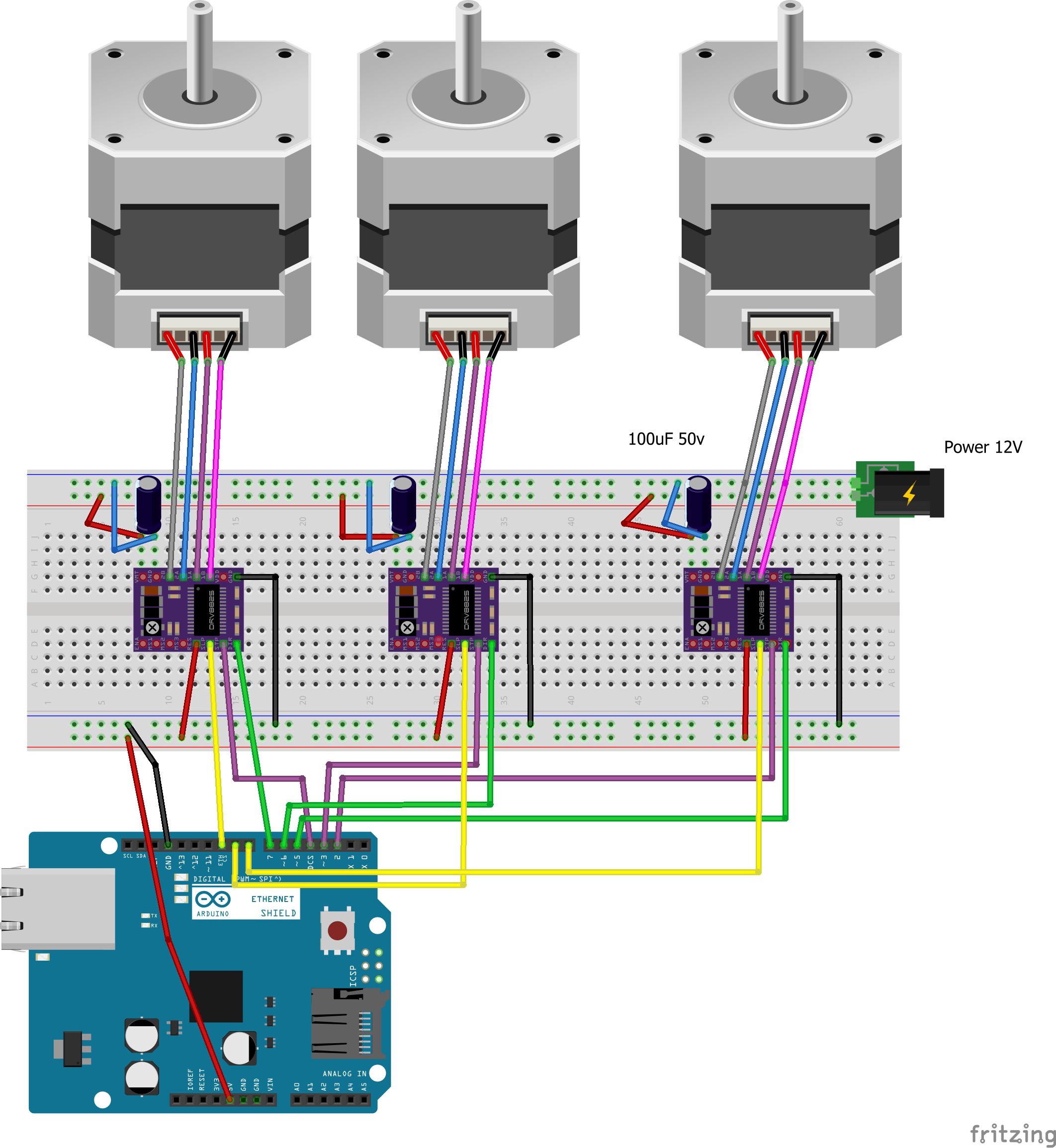 How to connect multiple    stepper    motors   Motor controllersdrivers and motors  Pololu Forum