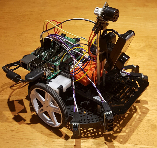 RPB-202, a beginner's robot based on Romi chassis and Raspberry Pi