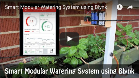 Smart Modular Watering System using Blynk - Youtube